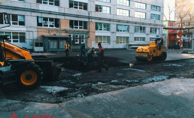 Укладка асфальта - Бизнес-центр Гута Групп - 3