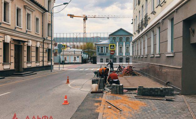 Укладка асфальта - УК ГАЗМЕТАЛЛПРОЕКТ - 9