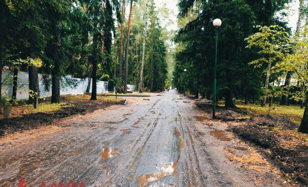 Укладка асфальта - Коттеджный поселок Управления делами Президента РФ