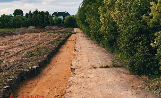 Укладка асфальта - Расширение проезжей части в Лызлово - 2