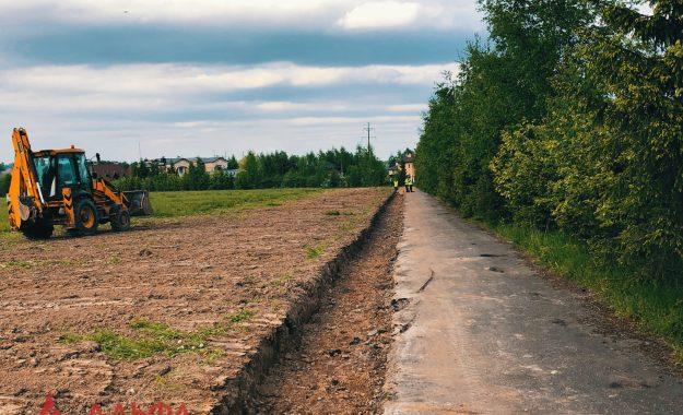 Укладка асфальта - Расширение проезжей части в Лызлово - 4