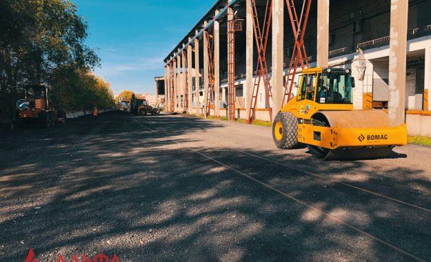 Укладка асфальтовой крошки - АО Мостранссклад 7000 кв.м. - 6