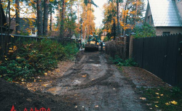 Укладка асфальта - Внутренняя дорога в Малаховке