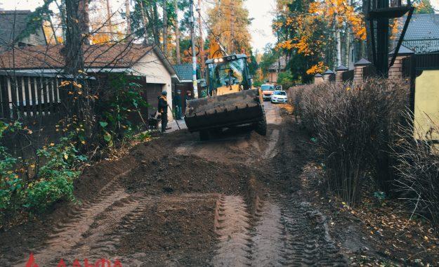Укладка асфальта - Внутренняя дорога в Малаховке - 1