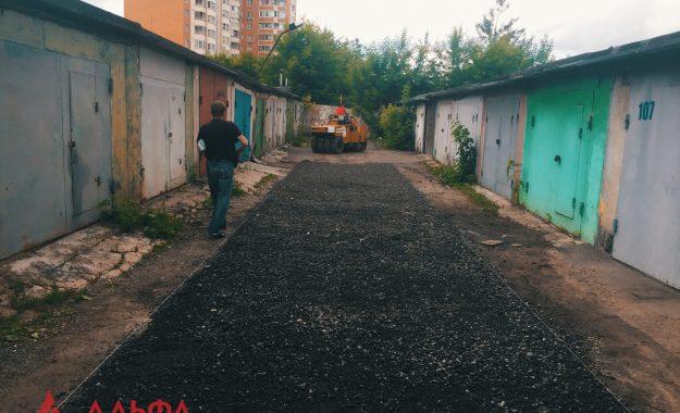 Укладка асфальта - ГК 51 в Люблино - 2