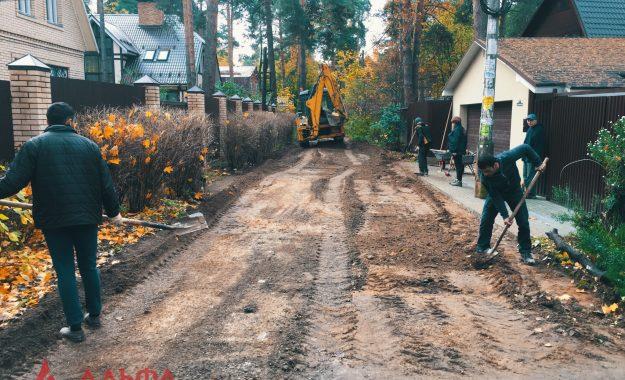 Укладка асфальта - Внутренняя дорога в Малаховке - 2