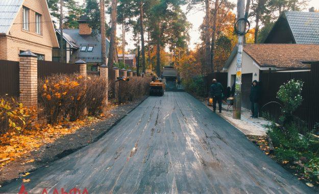 Укладка асфальта - Внутренняя дорога в Малаховке - 8
