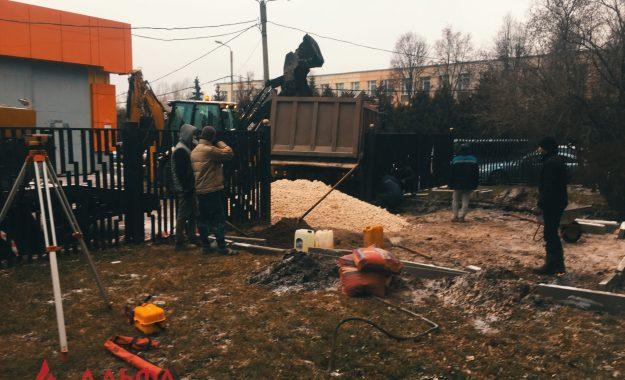 Укладка асфальта - Гостиница Орехово
