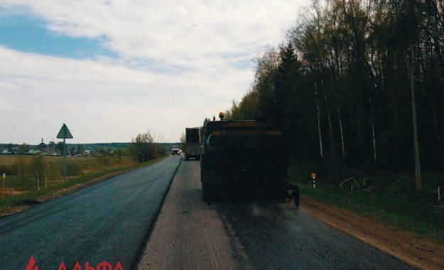 Укладка асфальта - Ремонт дороги районного значения - 3