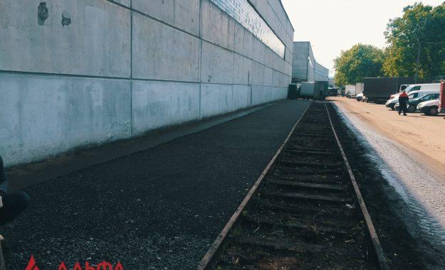 Укладка асфальтовой крошки - АО Мостранссклад 400 кв.м. - 3