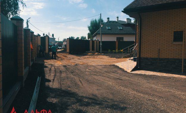 Укладка асфальта - Придомовая территория в КП Березовый парк - 2