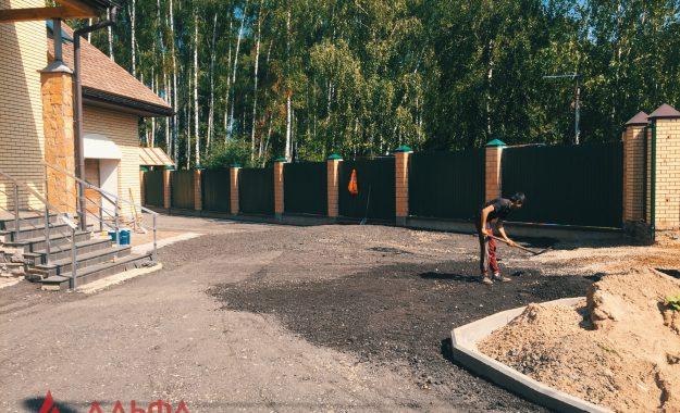Укладка асфальта - Придомовая территория в КП Березовый парк - 3