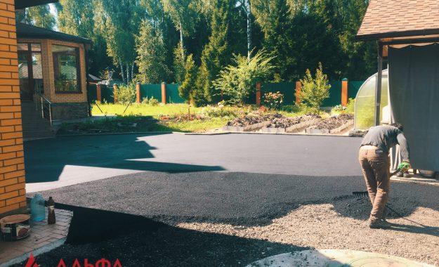 Укладка асфальта - Придомовая территория в КП Березовый парк - 4