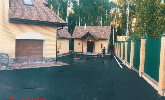 Укладка асфальта - Придомовая территория в КП Березовый парк - 5
