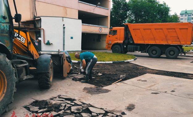 Ямочный ремонт - Многоуровневый паркинг