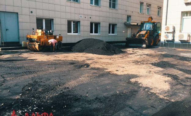 Укладка асфальта - НОРДЕА БАНК (I этап) - 5