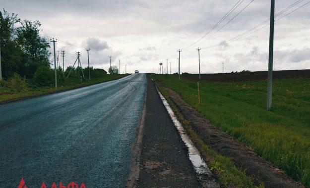 Укладка асфальта - Ремонт дороги местного значения