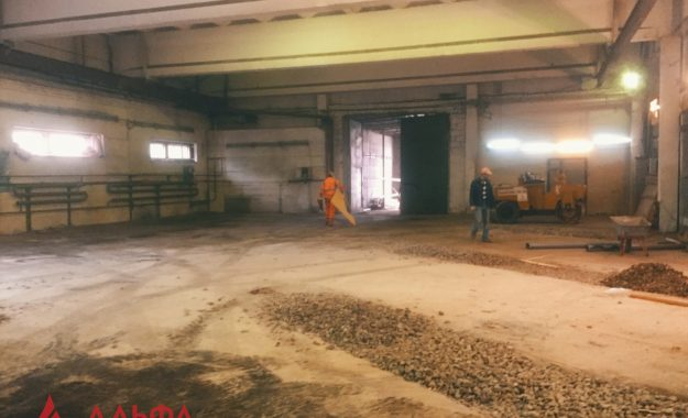 Укладка асфальта - Асфальтирование внутри склада - 1