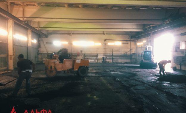 Укладка асфальта - Асфальтирование внутри склада - 3