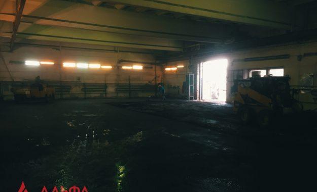 Укладка асфальта - Асфальтирование внутри склада - 5
