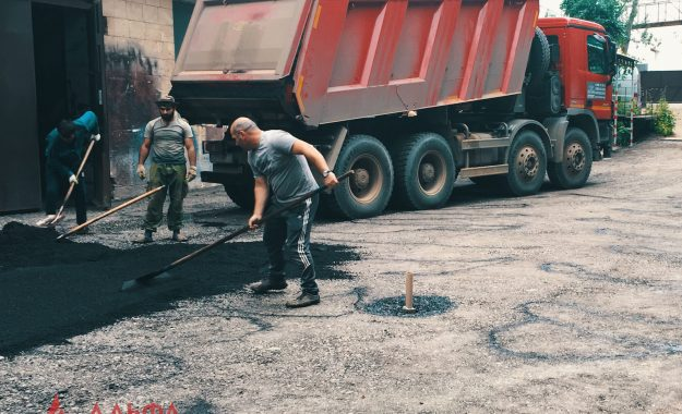 Укладка асфальта - ТМ и ВТ институт им. С.А. Лебедева РАН - 1