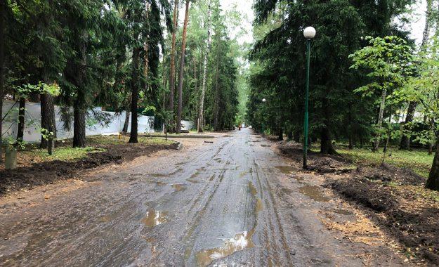 Укладка асфальта - Коттеджный поселок Управления делами Президента РФ - 2